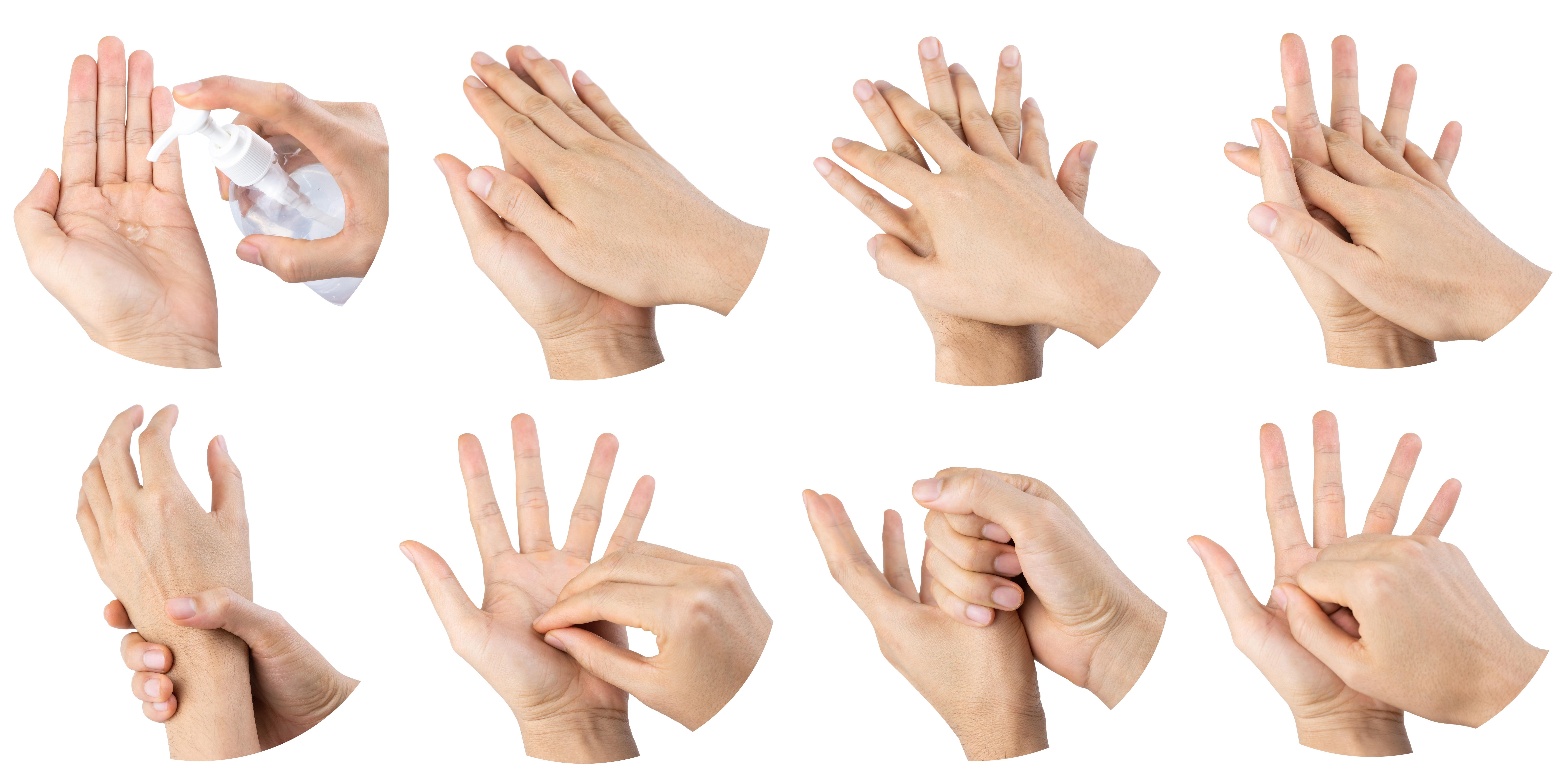 Anleitung Handdesinfektion