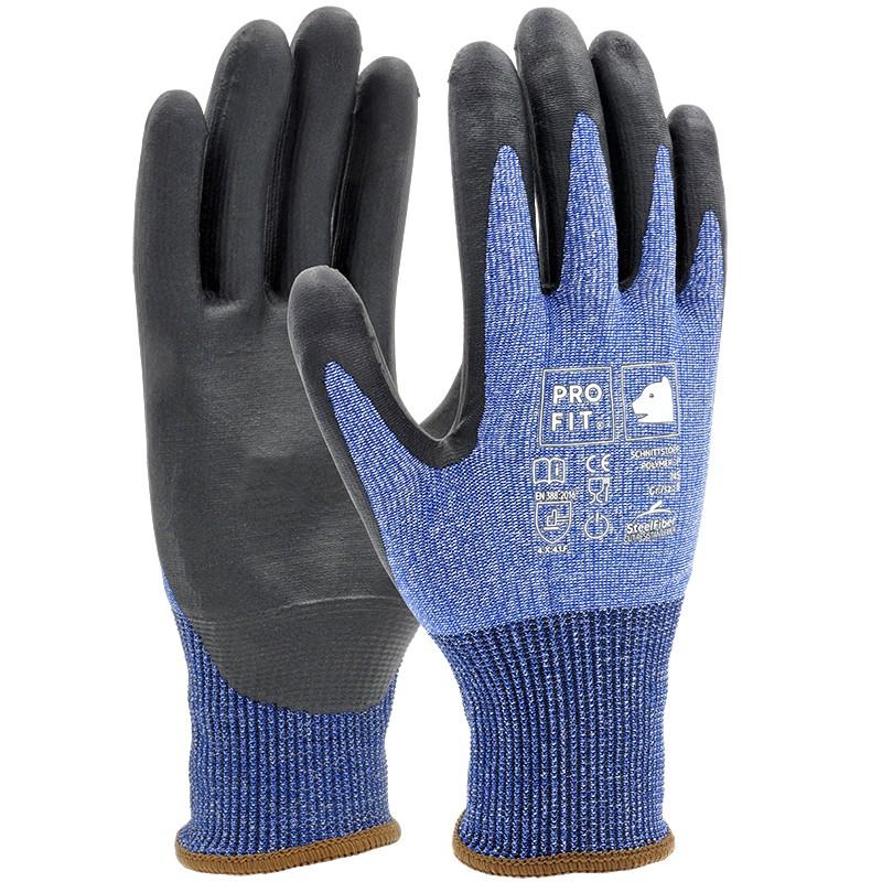 Glaserhandschuhe blau-schwarz