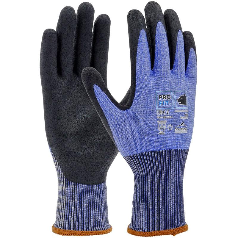Glaserhandschuhe blau-schwarz 2