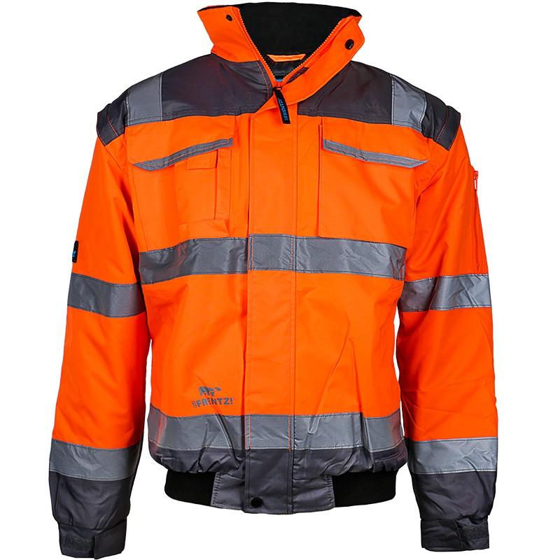 Warnschutzjacke orange Pilotenjacke