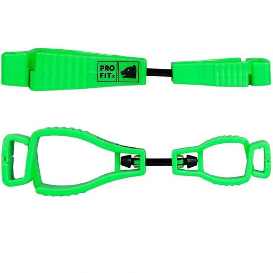 Handschuh-Halter, neon grün