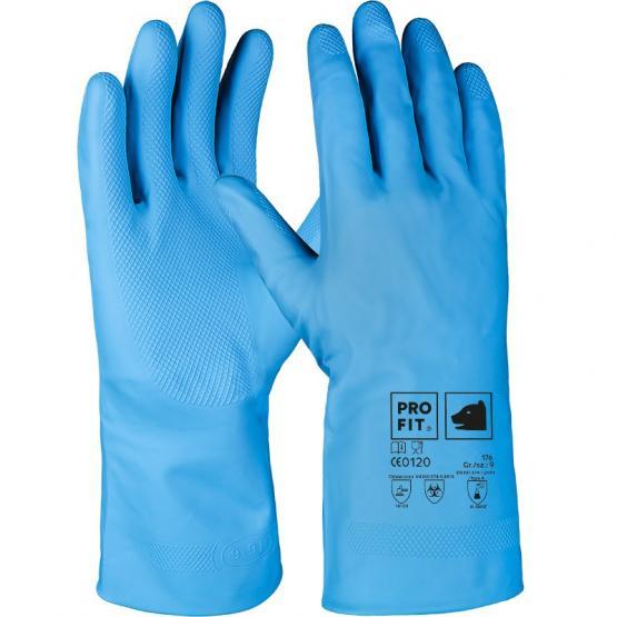 Latex Haushaltshandschuh, Standard-Qualität, blau, 30 cm