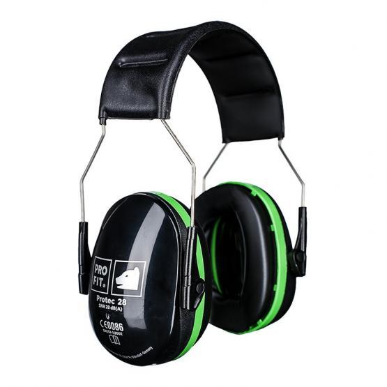 Protec 28 Gehörschutzkapsel, schwarz / grün, SNR-28 db (A)