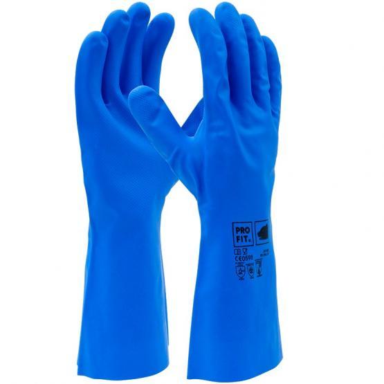 Trivex Nitril Chemikalienschutzhandschuh, 33 cm, blau