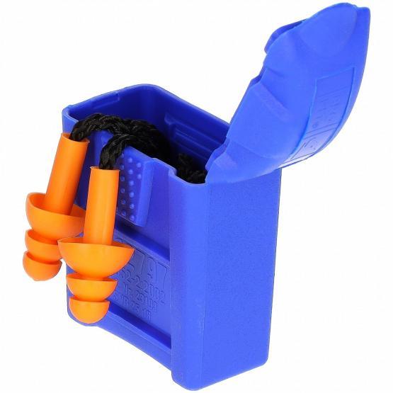 Pro-Fit® Mehrweg-Gehörschutzstöpsel mit Kordel, inklusive Box, SNR 25 db (A)
