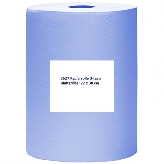 Papierrolle, 22 x 38 cm, 3-lagig, blau
