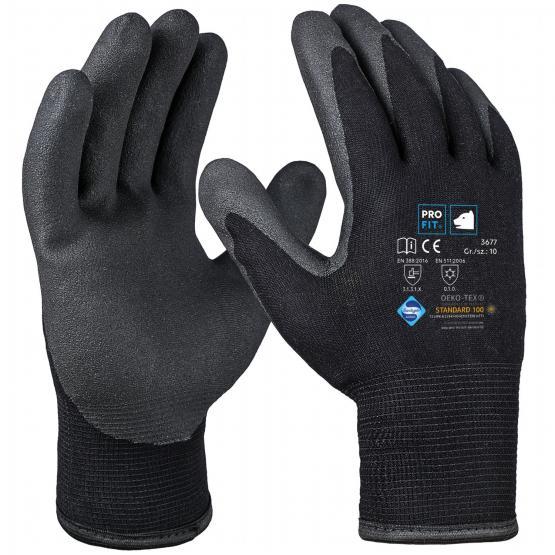 HPT-Polymer-Winterhandschuh, Doppelstrick, schwarz/schwarz