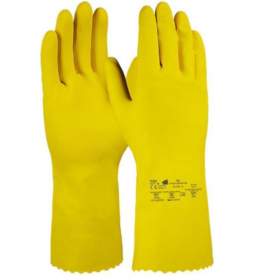 Latex Haushaltshandschuh, Standard-Qualität, gelb, 30 cm