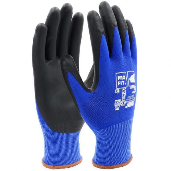 Polymer-P Handschuh, blau/schwarz