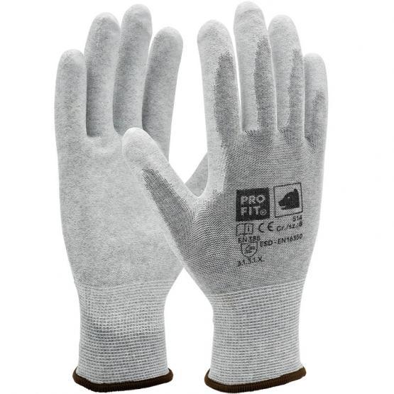ESD PU-Handschuh, natur / weiß