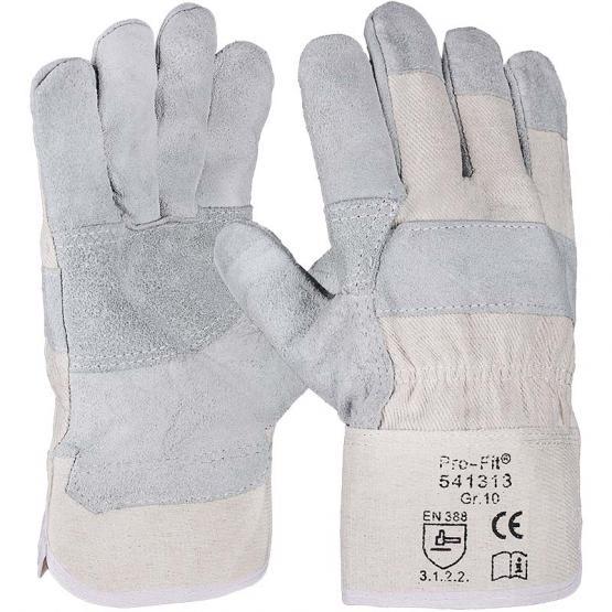 "Rindspaltleder-Handschuh, Innenhandverstärkung, ""Düne"", natur"