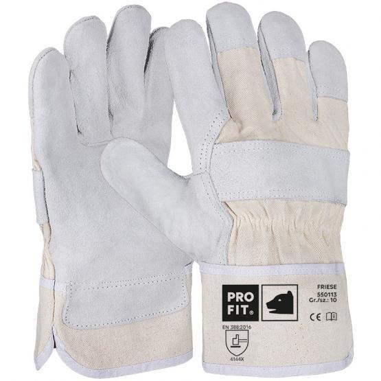 """Rindspaltleder-Handschuh, """"Friese"""", natur, Standard-Qualität"""