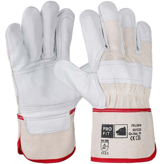 """Rindvollleder-Handschuh, """"Felsen"""", mit Volllederverstärkung"""