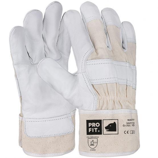 """Rindvollleder-Handschuh, """"Watt"""", natur"""