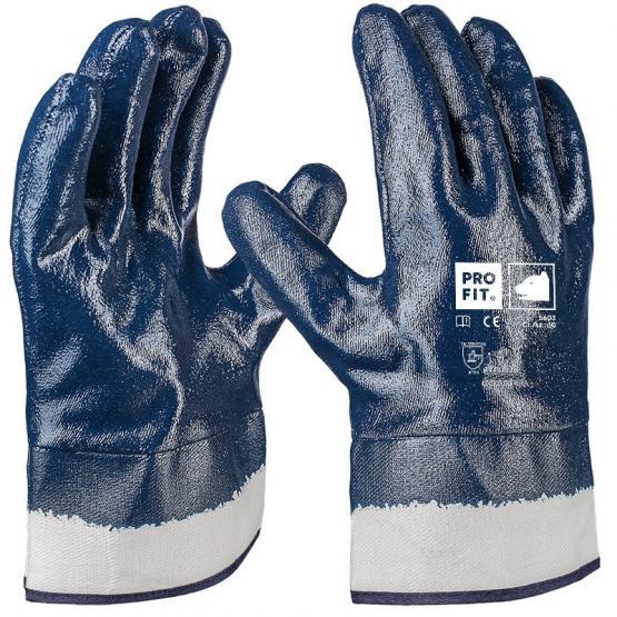 basic nitril handschuh blau vollbeschichtet stulpe. Black Bedroom Furniture Sets. Home Design Ideas