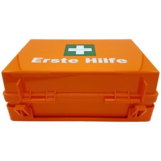Erste-Hilfe-Koffer MULTI, OHNE FÜLLUNG ! incl. Montagematerial und nachleuchtendem Rettungszeichen