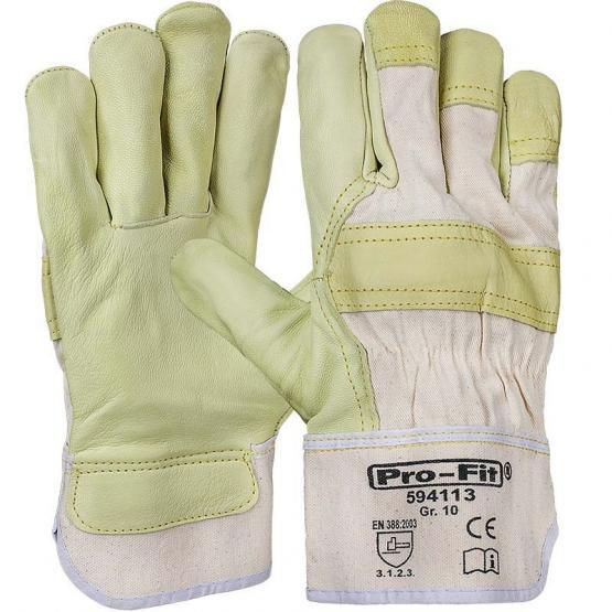"""Rindvollleder-Handschuh, """"Watt"""", gelb"""