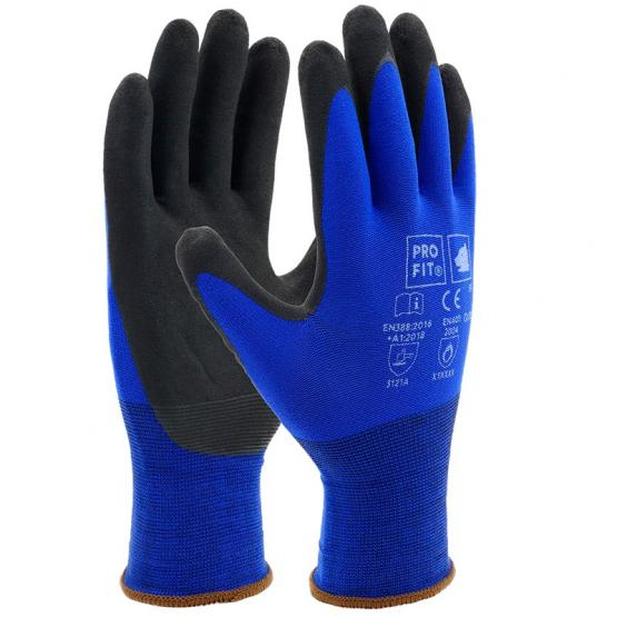SPIKE Micro-Nitrilschaum Feinstrickhandschuh blau, 18 Gauge