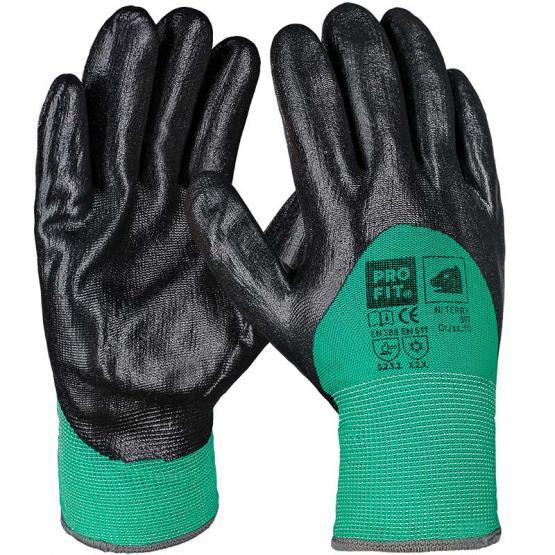 NI Terry Winterhandschuh grün/schwarz, 3/4 Beschichtung