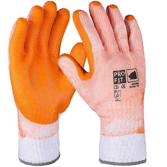 Defender Latex-Handschuh, weiß / orange