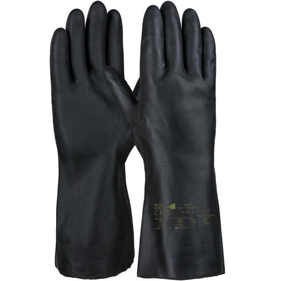 Neopren/Latex Chemikalienschutzhandschuh, 30 cm, schwarz