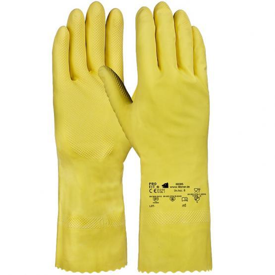 Latex-Haushaltshandschuh, leichte Qualität, 30 cm, gelb