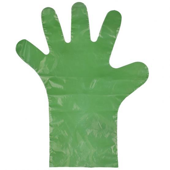 PE-Einweg-Handschuh, 37 cm, grün, glatt, 100 St Beutel