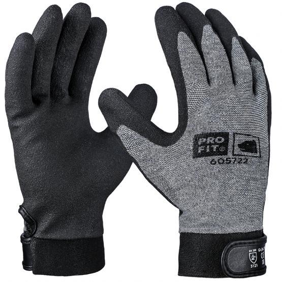HPT-Polymer-Handschuh, grau / schwarz, mit Klettverschluss