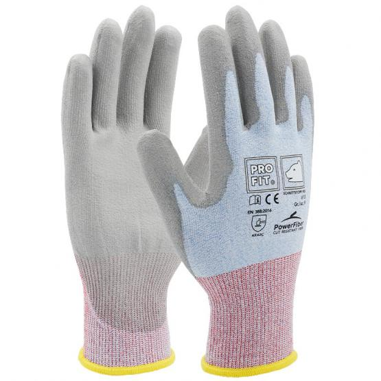 Schnittstopp PRO Soft PU-Schnittschutzhandschuh, Level 3 C, hellblau/grau