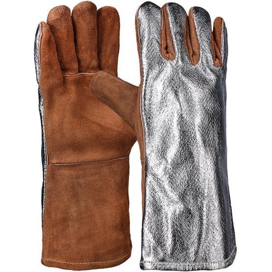 Sebatanleder-5.Fingerhandschuh, 34 cm, mit Aluminisierung