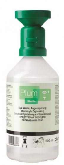 Plum Augenspülflasche 500 ml sterile Natiumchloridlösung (0,9%)