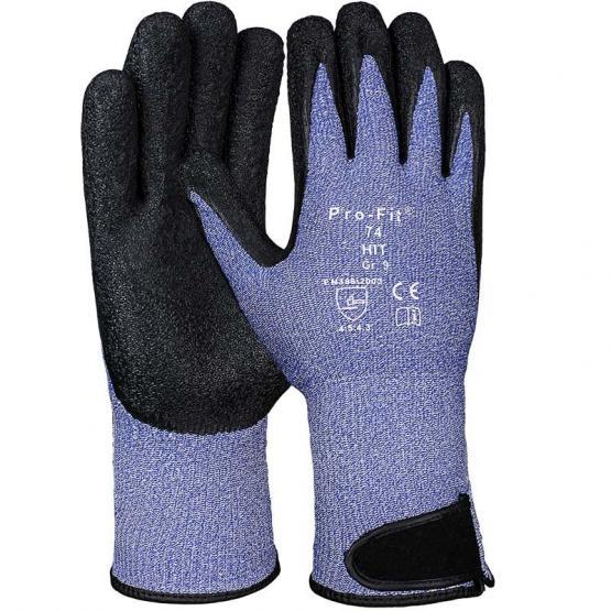 Latex-Schnittschutzhandschuh Level 5 mit Klettverschluss, blau/schwarz
