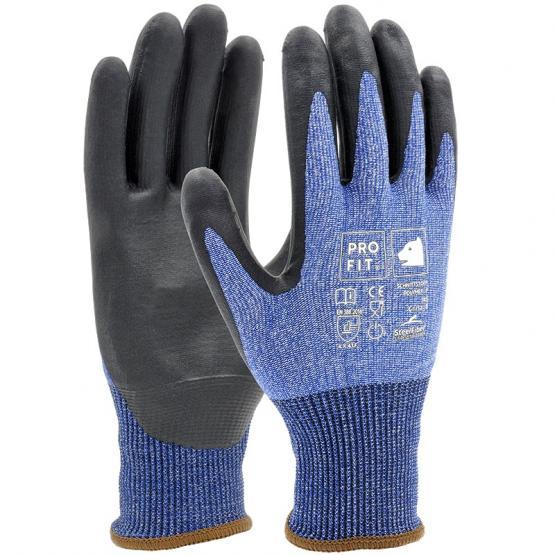 Polymer-P Schnittschutzhandschuh Level F, Steel-Fiber, blau/schwarz