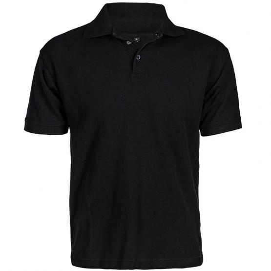 Polo-Shirt, 100 % Baumwolle, schwarz