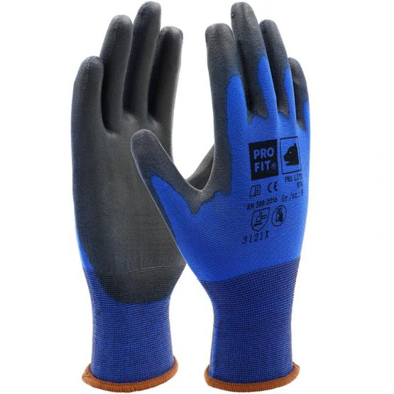 PRO LITE Soft-PU-Handschuh, blau / schwarz, Touch-Screen