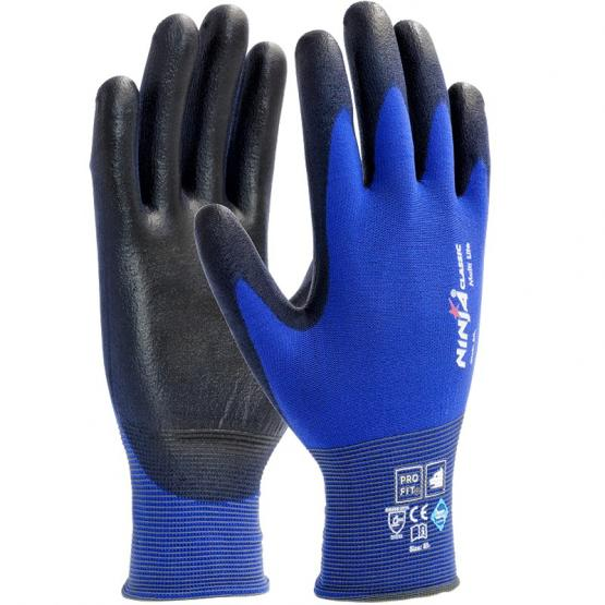 Ninja Lite Soft-PU-Handschuh, blau / schwarz