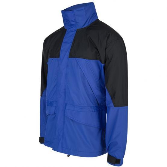Wind-/Regenjacke, schwarz/blau