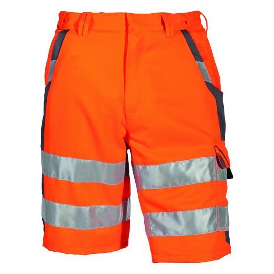 Warnschutz Shorts orange-grau