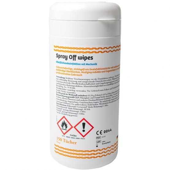 Spray Off Tücher, Box à 150 Tücher, Desinfektions- und Reinigungstücher