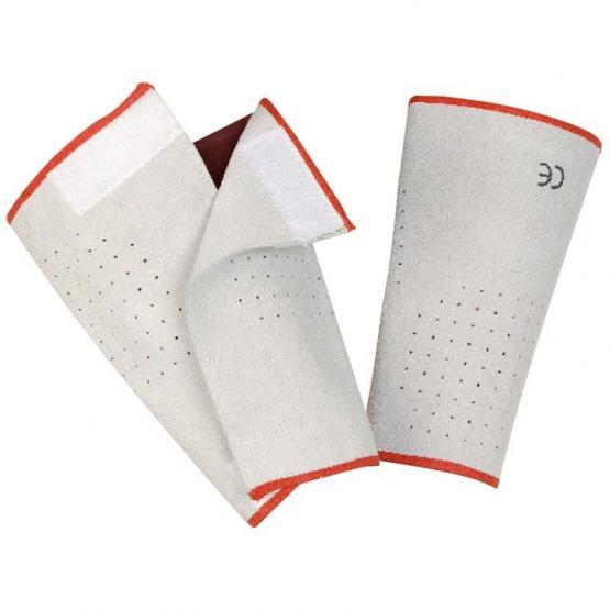 Leder-Pulsschutz, 20 cm, Klettverschluss, natur