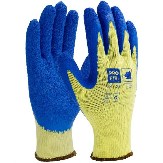 Kevlar®-Latex-Schnittschutzhandschuh Level C, gelb/blau