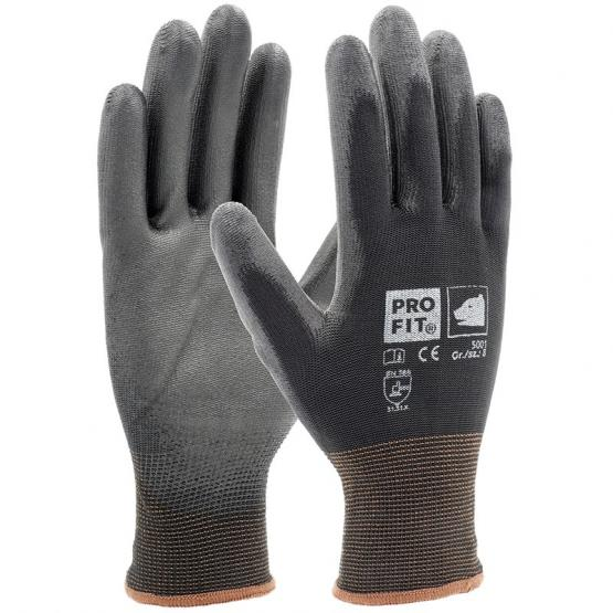 PU-Handschuh, schwarz, Umweltbewusst ohne Einzeltüte