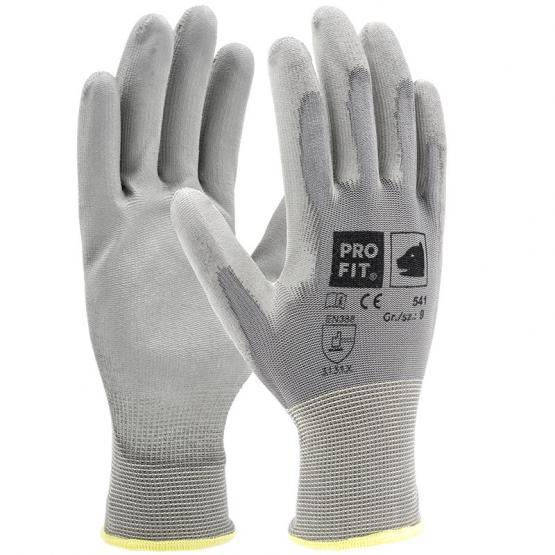 PU-Handschuh,grau, 12er Bund, Umweltbewusst ohne Einzeltüte