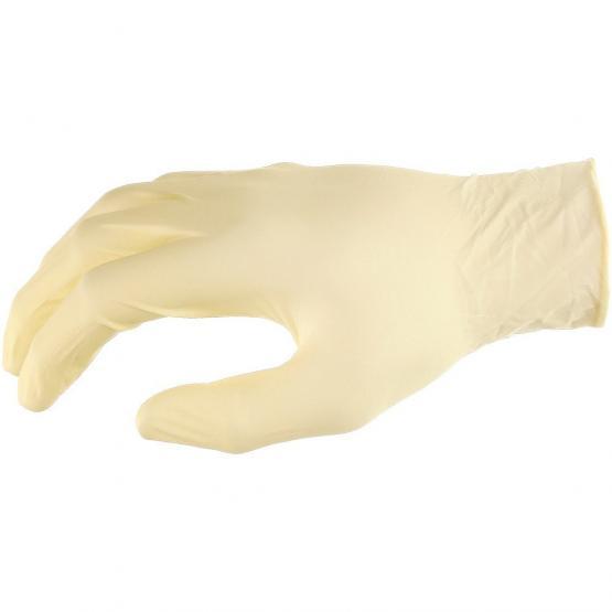 Latex- Einweghandschuh ungepudert, 24 cm, transparent