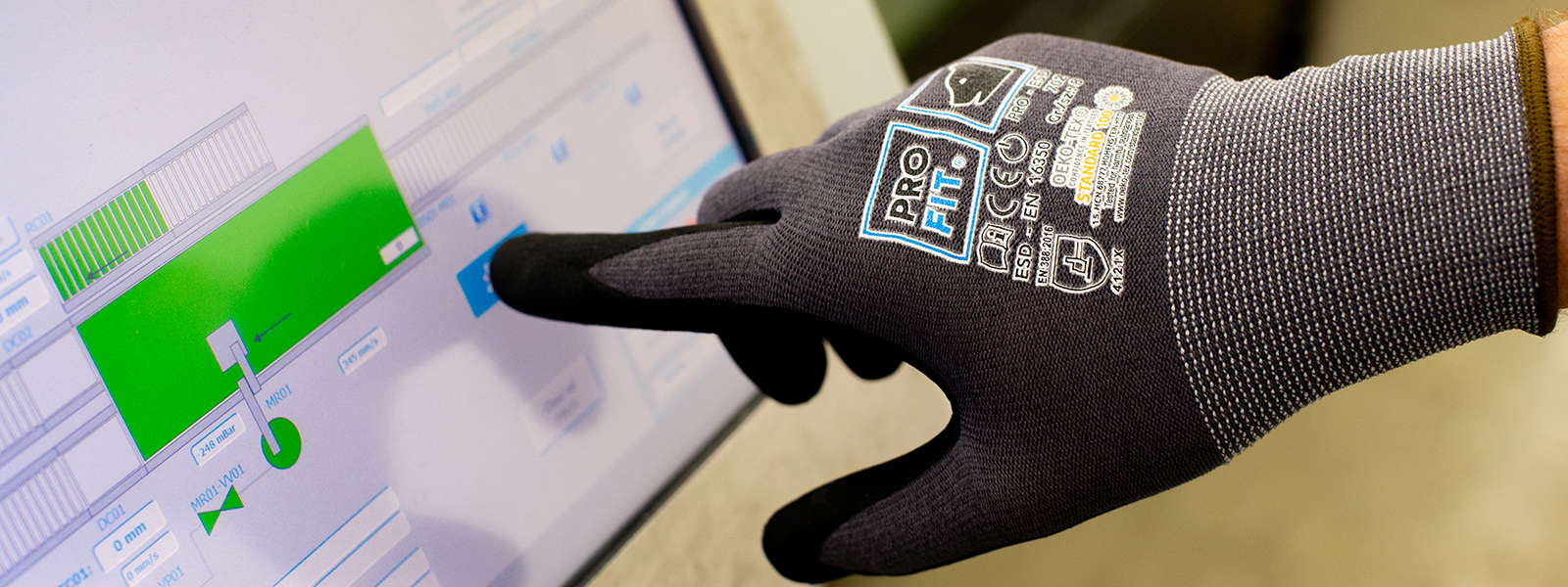 Schutzhandschuhe mit Touchscreen-Fähigkeit und ESD-Funktion