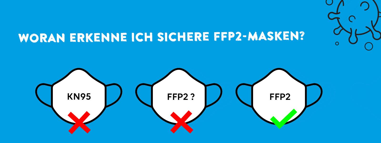 Warnung vor falschen FFP2-Masken sowie mangelhaften KN95-Masken