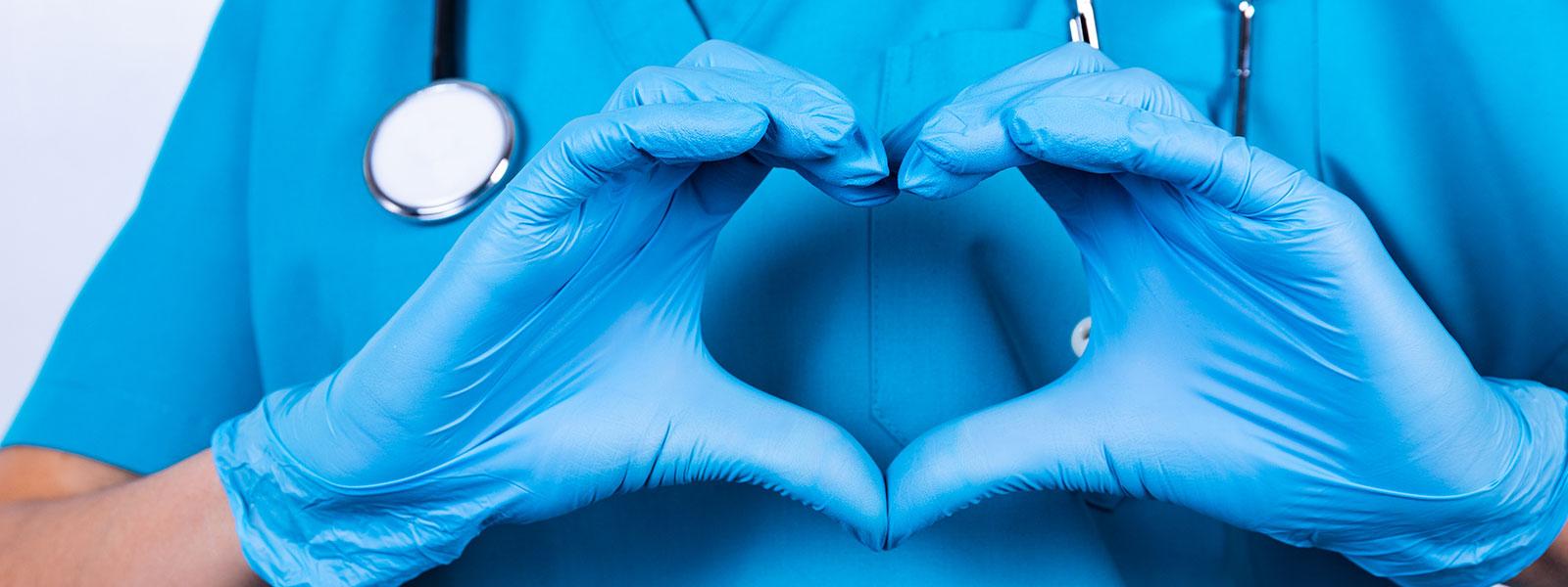 Schutzhandschuhe zur Infektionsprophylaxe in medizinischen Einrichtungen