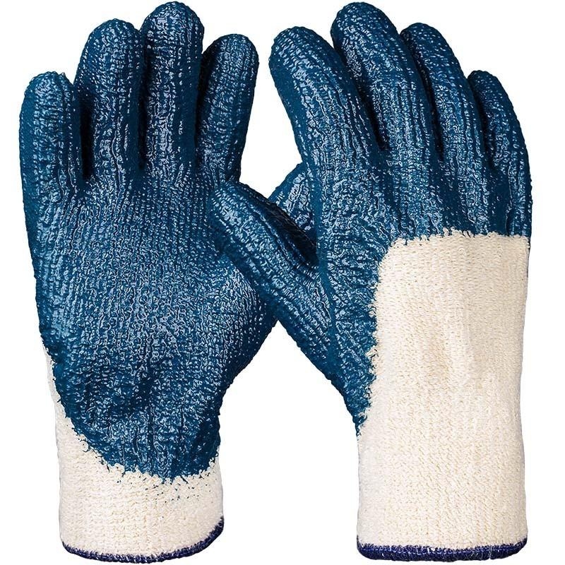 hercules nitril handschuh blau geraut 3 4 beschichtet. Black Bedroom Furniture Sets. Home Design Ideas