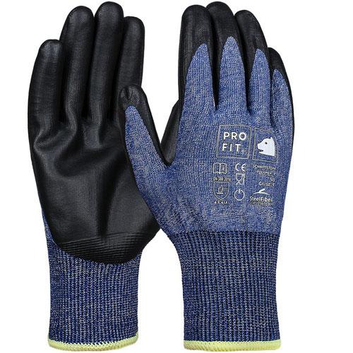 Polymer-P Schnittschutzhd Level F, Steel-Fiber, blau/schwarz 7
